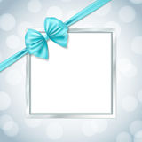 Silver square frame stock illustration