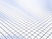 Silver squares. Cyberspace generated by silver square tiles royalty free illustration