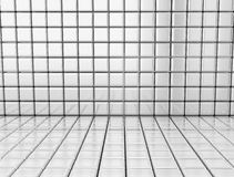 Silver squares tiles. Wall generated by silver square tiles 3d render Stock Images