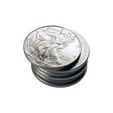 Silver Stack Stock Image