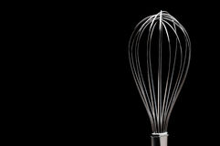 A silver stainless steel whisk Royalty Free Stock Photo