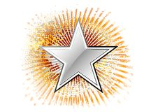 Silver star Royalty Free Stock Images