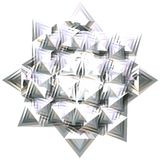 Silver star 4 Royalty Free Stock Image