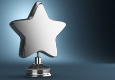 Silver star award Royalty Free Stock Image