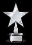 Silver star award trophy Stock Image