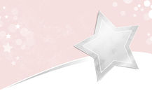 Silver star background Royalty Free Stock Photography