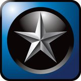 Silver star blue icon Royalty Free Stock Photography