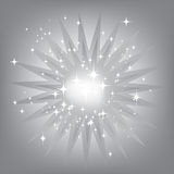 Silver star burst Stock Photos