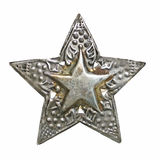Silver star christmas ornament Royalty Free Stock Image