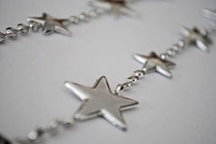 Silver Star. Christmas Silver Star on white background Royalty Free Stock Photo