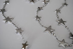 Silver Star. Christmas Silver Star on white background Royalty Free Stock Image