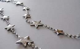 Silver Star. Christmas Silver Star on white background Royalty Free Stock Images