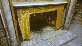 Silver Star Church of the Nativity - Bethlehem Royalty Free Stock Photography