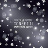 Silver Star Confetti Stock Image