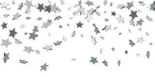 Silver star of confetti. vector illustration