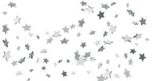 Silver star of confetti. royalty free illustration