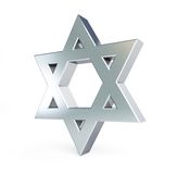 Silver star of David Royalty Free Stock Photo