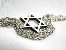Silver star of David closeup Royalty Free Stock Photo