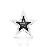 Silver star with diamonds on white background Stock Photography