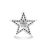 Silver star with diamonds on white background Royalty Free Stock Image