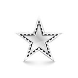 Silver star with diamonds on white background Stock Photos