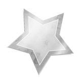 Silver star Royalty Free Stock Photo
