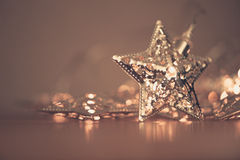 Silver star lights Stock Image