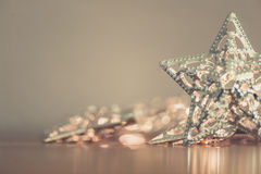 Silver star lights Royalty Free Stock Images