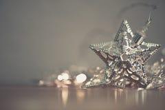 Silver star lights Stock Photo