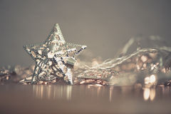Silver star lights Stock Images