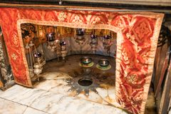 Holy Church Of The Nativity, Bethlehem, Israel stock images