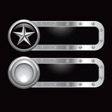 Silver star metal banner Royalty Free Stock Photos