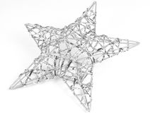 Silver star Stock Image