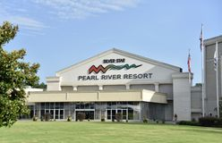Silver Star at the Pearl River Resort, Choctaw, Mississippi. Silver Star Hotel & Casino at Pearl River Resort brings the Las Vegas experience to Choctaw stock images