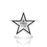 Silver star on white background. Poker concept Stock Photography