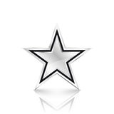 Silver star on white background. Vector Illustration Stock Photos