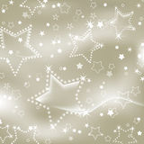 Silver starry background Stock Photo