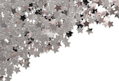 Silver stars. Isolated on white background Stock Photography
