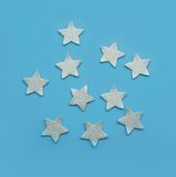 Silver stars Stock Images