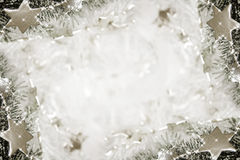 Silver stars background Royalty Free Stock Photography