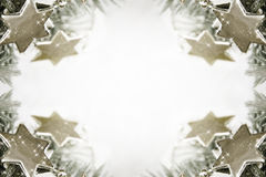 Silver stars background Royalty Free Stock Images