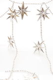 Silver stars background for christmas Royalty Free Stock Photography