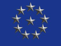 Silver Stars on Blue Stock Photos