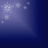 Silver Stars on Blue Background Royalty Free Stock Photos