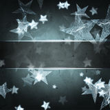 Silver stars, christmas background, text space Royalty Free Stock Photo
