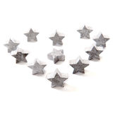 Silver stars Royalty Free Stock Photos