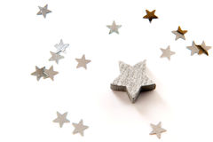 Silver stars Royalty Free Stock Photo