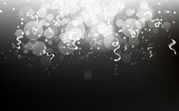 Silver stars falling confetti, dust, glowing particles scatter g royalty free illustration