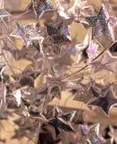 Silver stars stock image