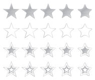Silver Stars Icons Stock Photography